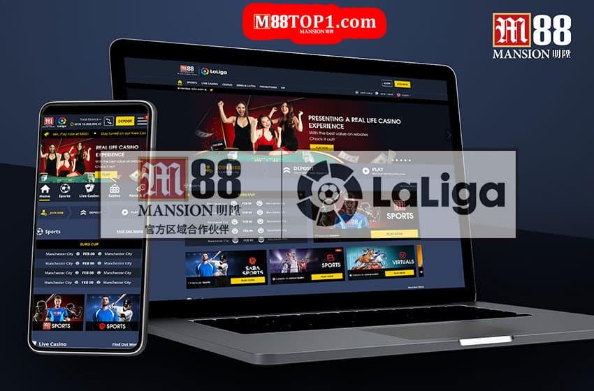M88 tài trợ cho giải Laliga