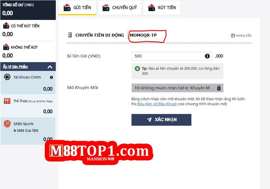 Hướng dẫn làm lệnh gửi tiền bằng MomoPay