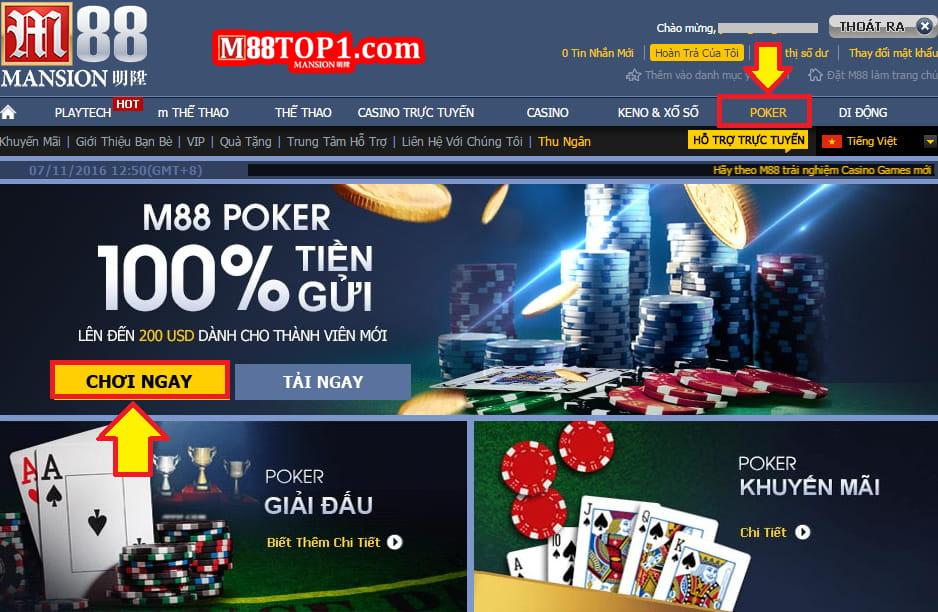 Giới thiệu chi tiết game bài Poker M88