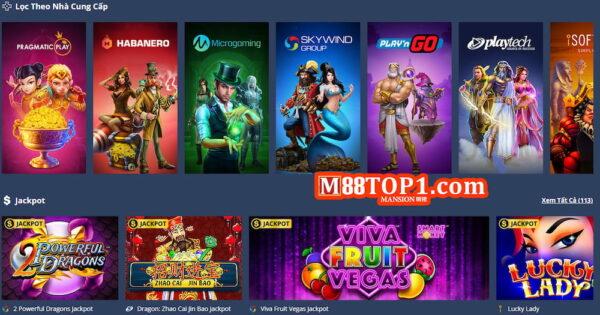 Một số tựa game slot tại M88